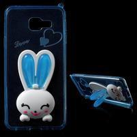 Gelový obal s králíčkem na Samsung Galaxy A3 (2016) - modrý