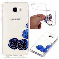 Laque gelový obal na mobil Samsung Galaxy A3 (2016) - modré růže
