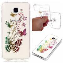 Laque gelový obal na mobil Samsung Galaxy A3 (2016) - motýlci