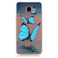 Průhledný gelový obal na Samsung Galaxy A3 (2016) - motýlci