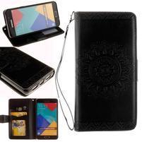 Mandalas PU kožené pouzdro na Samsung Galaxy A3 (2016) - černé