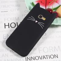 Cat 3D silikonový obal na Samsung Galaxy A3 (2017) - černý