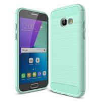 Odolný gelový obal s vystuženými rohy na Samsung Galaxy A3 (2017) - azurový
