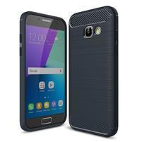 Odolný gelový obal s vystuženými rohy na Samsung Galaxy A3 (2017) - tmavěmodrý