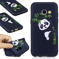 Emboss gelový obal na mobil Samsung Galaxy A3 (2017) - panda na bambusu