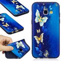 Emboss gelový obal na mobil Samsung Galaxy A3 (2017) - motýlci