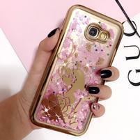 Romantic přesýpací gelový obal na Samsung Galaxy A3 (2017) - dívka