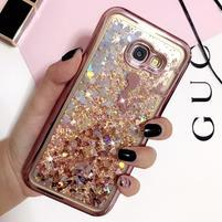 Romantic přesýpací gelový obal na Samsung Galaxy A3 (2017) - motýlí víla