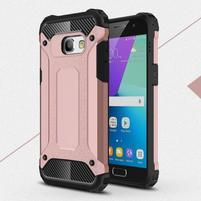 Defender odolný obal na mobil Samsung Galaxy A3 (2017) - růžovozlatý