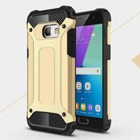 Defender odolný obal na mobil Samsung Galaxy A3 (2017) - zlatý