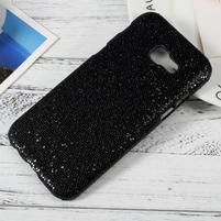Hardy plastový obal s třpytkovými zády na Samsung Galaxy A3 (2017) - černý glitter