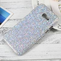 Hardy plastový obal s třpytkovými zády na Samsung Galaxy A3 (2017) - stříbrný glitter