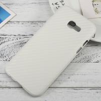 Hardy plastový obal na Samsung Galaxy A3 (2017) - bílý karbon