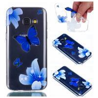 Rubbi gelový obal na Samsung Galaxy A3 (2017) - modří motýlci