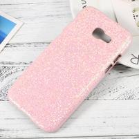 Hardy plastový obal s třpytkovými zády na Samsung Galaxy A3 (2017) - růžový glitter