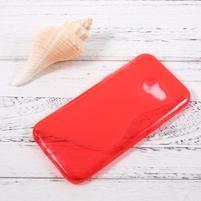 Sline gelový obal na mobil Samsung Galaxy A3 (2017) - červený
