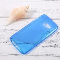Sline gelový obal na mobil Samsung Galaxy A3 (2017) - modrý