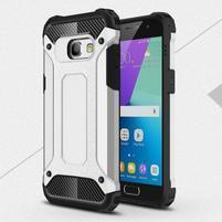 Defender odolný obal na mobil Samsung Galaxy A3 (2017) - stříbrný