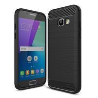 Odolný gelový obal s vystuženými rohy na Samsung Galaxy A3 (2017) - černý