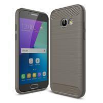 Odolný gelový obal s vystuženými rohy na Samsung Galaxy A3 (2017) - šedý