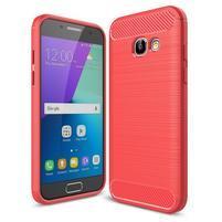 Odolný gelový obal s vystuženými rohy na Samsung Galaxy A3 (2017) - červený