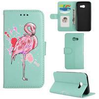 Flamingo PU kožené pouzdro na mobil Samsung Galaxy A5 (2017) - cyan