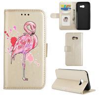 Flamingo PU kožené pouzdro na mobil Samsung Galaxy A5 (2017) - zlaté