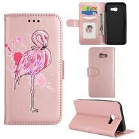 Flamingo PU kožené pouzdro na mobil Samsung Galaxy A5 (2017) - rosegold