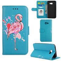 Flamingo PU kožené pouzdro na mobil Samsung Galaxy A5 (2017) - modré