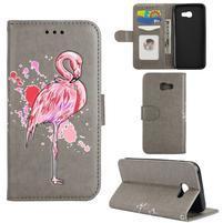 Flamingo PU kožené pouzdro na mobil Samsung Galaxy A5 (2017) - šedé