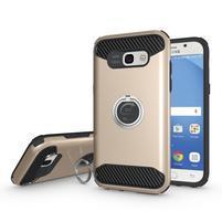 Metalring odolný obal s náprstkem na Samsung Galaxy A5 (2017) - zlatý