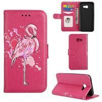 Flamingo PU kožené pouzdro na mobil Samsung Galaxy A5 (2017) - rose