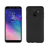 Carbon silikonový obal na Samsung Galaxy A6 Plus - černý