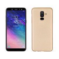 Carbon silikonový obal na Samsung Galaxy A6 Plus - zlatý