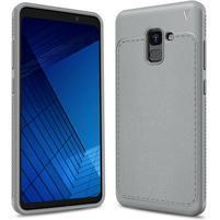 IVS odolný gelový obal s texturovanými zády na Samsung Galaxy A7 (2018) - šedý
