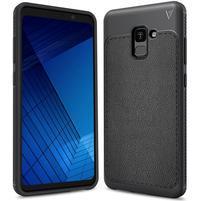 IVS odolný gelový obal s texturovanými zády na Samsung Galaxy A7 (2018) - antracitový