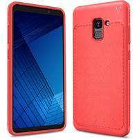 IVS odolný gelový obal s texturovanými zády na Samsung Galaxy A7 (2018) - červený