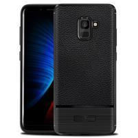 ProtectTexture gelový obal na Samsung Galaxy A8 Plus (2018) - černý
