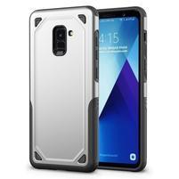 Rougy hybridní odolný obal na Samsung Galaxy A8 Plus (2018) - stříbrný