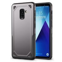 Rougy hybridní odolný obal na Samsung Galaxy A8 Plus (2018) - šedý