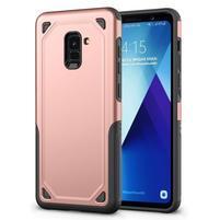 Rougy hybridní odolný obal na Samsung Galaxy A8 Plus (2018) - rosegold