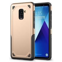 Rougy hybridní odolný obal na Samsung Galaxy A8 Plus (2018) - zlatý