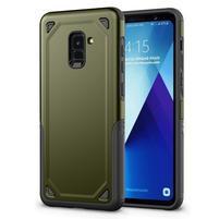 Rougy hybridní odolný obal na Samsung Galaxy A8 Plus (2018) - zelený