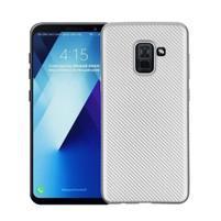 Carbon gelový obal na Samsung Galaxy A8 Plus (2018) - stříbrný