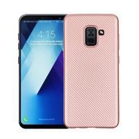 Carbon gelový obal na Samsung Galaxy A8 Plus (2018) - růžovozlatý