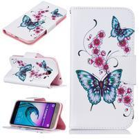 Patty peněženkové pouzdro na Samsung Galaxy J3 (2016) - motýlci