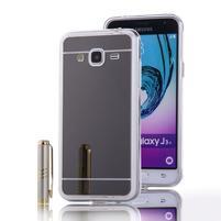 Zrcadlový gelový obal na Samsung Galaxy J3 (2016) - černý