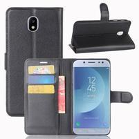 Grain knížkové pouzdro na mobil Samsung Galaxy J3 (2017) - černé