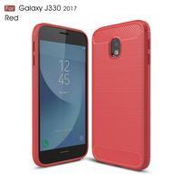 Carbo odolný obal na mobil Samsung Galaxy J3 (2017) - červený