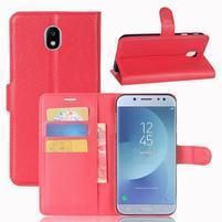 Grain knížkové pouzdro na mobil Samsung Galaxy J3 (2017) - červené